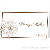 Place Card Template - Daisy Design