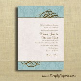 Teal Swirl Wedding Invitations