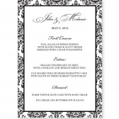 Menu Template - Damask Stipe