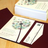 Blowing Dandelion Wedding Invitation