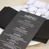 Dandelion Wedding Menu