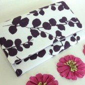 Plum and White Dogwood Clutch