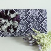Purple and White Floral Starburst  Danielle Clutch