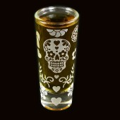 Calavera Shot Glass, Candy Skull
