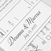 Classic Wedding Invitation Script -Deanna Collection