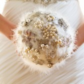 Debbie- Unique feather and rhinestone jewelry bouquet