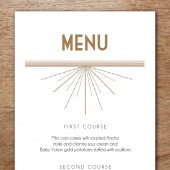 Printable Menu Template - Deco
