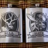 Wildlife Collection Personalized Flasks for Groomsmen
