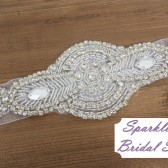 Dealaney Bridal Sash - SparkleSM Bridal Sashes