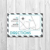 Wedding/Reception Map - Stripes