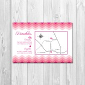 Wedding/Reception Map - Chevron Stripe