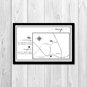 Wedding/Reception Map - Classic Border