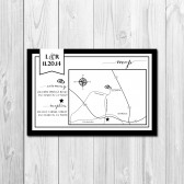 Wedding/Reception Map - Classic Flag