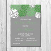 Green Pom Pom Bridal Shower Invitation