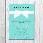 Tiffany Inspired Bridal Shower Invitation