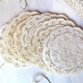 Rustic Hand Dyed Doilies