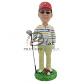 Golfer Posing for Pics Custom Bobblehead