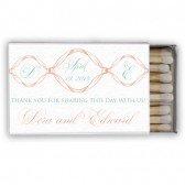Dora – Elegant Flourish Wedding Favor Matchboxes