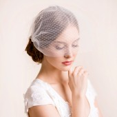 double, bridal, birdcage, veil, double birdcage veil, wedding, wedding veil