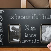Every Love Story Is Beautiful, Double picture frame