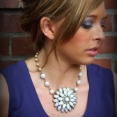 Phoebe Flower Necklace with Pearl