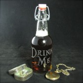 Drink Me Glass Water Bottle, Geekery Wedding