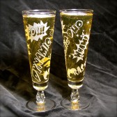 Dynamic Duo Comic Book Wedding Toast Glasses