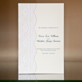 Lace Embellished Wedding Program