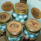 Monogrammed Mason Jar Labels