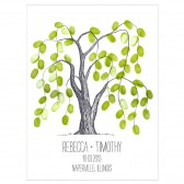 Weeping Willow Thumbprint Tree Guestbook