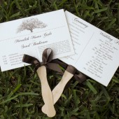 Rustic Tree Themed Wedding Program Fans