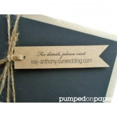 kraft banner tags - personalized - wedding invitation decoration - wedding favor tags - double sided printing - set of 20