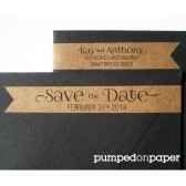 personalized skinny banner wraparound return address labels - save the date - set of 28