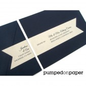 personalized cream banner wraparound address labels with recipient addressing - set of 12