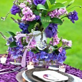 Purple Glitter Wooden Table Numbers
