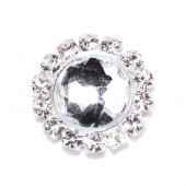 ELEGANT ROUND DIAMANTE FLAT BACK 501