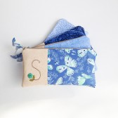 Blue Monogram Clutch