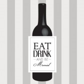 Eat Drink & Be Married Wine Labels