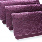 Eggplant Lace Amelia Clutches