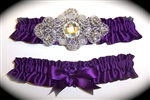 Eggplant Regal Satin Garter