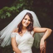 Two Tier Elbow Wedding Veil