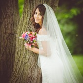110″ Drop Wedding Veil With Swarovski Crystals