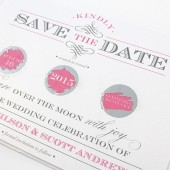Elegant Flourish Scratch Off Save The Date