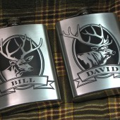 Elk and Deer Groomsmen Flasks