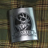 Personalized Elk Flask, Gift for Groomsmen
