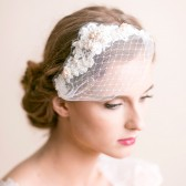 bridal, headpiece, hair accessory, lace, lace headpiece, rhinestone, bridal headpiece