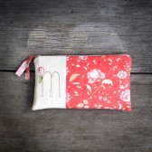 Embroidered Monogram Clutch