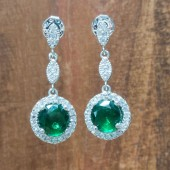 Isabella Emerald Wedding Earrings