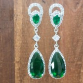 Whitney Emerald Bridal Earrings