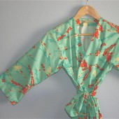 Aqua Birds Bridesmaids Robe